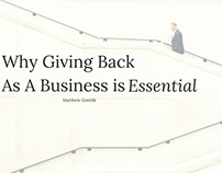 Giving Back as a Business is Essential |Matthew Gorelik