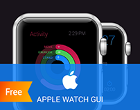 Free Apple watch GUI - 36 Elements