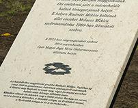'Radnóti Memorial Slab' – 2014