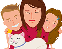Illustration Family Ingo
