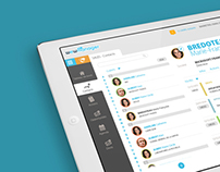 Sales management app design concept