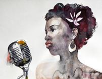 Painting for International Jazz Day Latvia in progress
