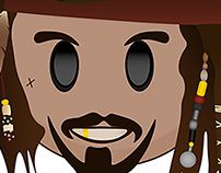 Captain Jack Sparrow Disney Emoji