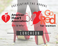 AHA Go Red for Women Luncheon Program Book