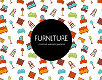 Furniture Vector Seamless Free Pattern