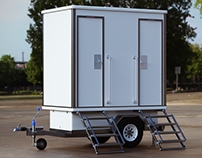 Portable Restroom CG model