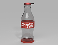 Detailing: Coca Cola Glass Bottle
