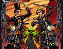 Lincoln vs. Douglas Motorcycle Rally Poster