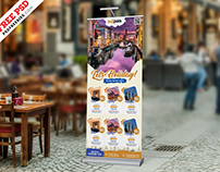 Travel Tourism Roll-up Banner PSD