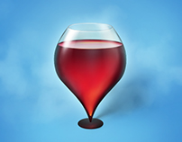 Wineglass. Location icon
