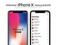 Free Detailed Apple iPhone X Mockup