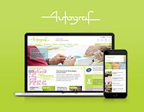 Autograf.fr: Home page responsive webdesign