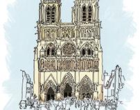 Paris, France Cathédrale Notre-Dame
