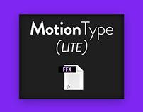 MotionType - Free AE Preset