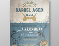 Barrel Aged Blues - Event Logo, Poster and Ad