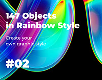 147 Objects in Rainbow Style #02