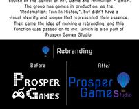 Rebranding for Prosper Games Studio