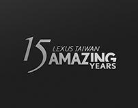 LEXUS TAIWAN 15 YEARS LOGO