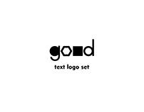 Text logo set
