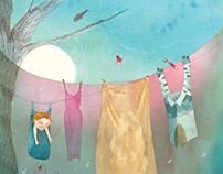 """Ilustraciones para """"La lavandera"""" de Janet Pankowsky"""