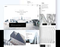 Architektur Homepage Design