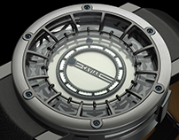 Concept jumping hour watch.
