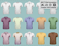 50+ Free T-Shirt Template Pack