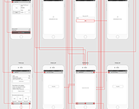Flower Booking Logo and App part 2(Wireframe and Proto)