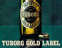 Brochure print design – Tuborg Gold Beer brochure