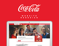 cocacola website redesign