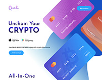 Crypto currency , Banking landing page design