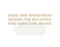 Logo and WordPress design for Fine furniture Brand