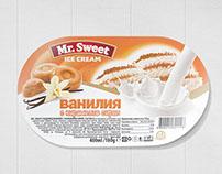 Label design for Mr.Sweet ice creams.