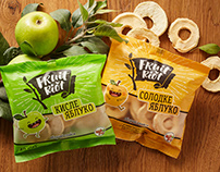 "Apple Chips ""Fruit Riot"". Logo and Packaging"