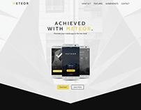METEOR App Landing Page 2