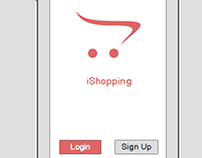 Shopping app wireframe and sketches design