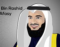 Mishari Bin Rashid Al Afasy vector Art