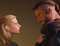 Vikings-Lagertha and Ragnar
