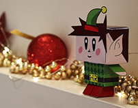 Christmas Elf paper toy design - Promo Marketing