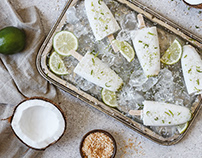 Coconut & Lime Sorbets