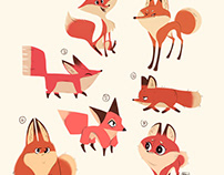 Cute Fox Characters