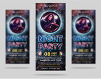 Night Party Rack Card Title Design