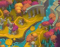 Map zones design. Hustle Castle