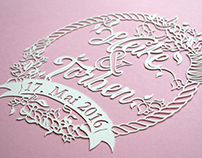 Bespoke Wedding Papercut