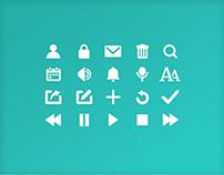 Custom icon set for Scribr app
