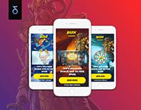 WEB | Casino banner & landing page design & automation
