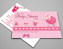 Baby Shower Party Postcard Template Vol2