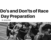 Do's and Don'ts of Race Day Preparation