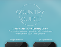 UI / UX Design for application Country guide.