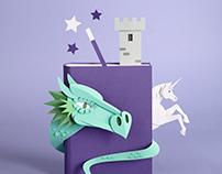 Book review paper illustrations for Brigitte Magazine